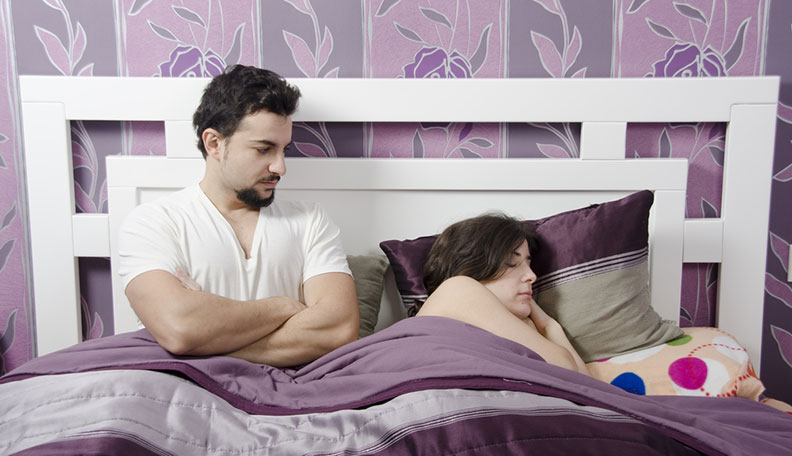 signs your partner isn't in the mood for sex